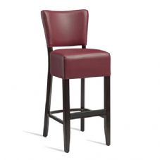 Vanna Club Bar Stool Wenge Red